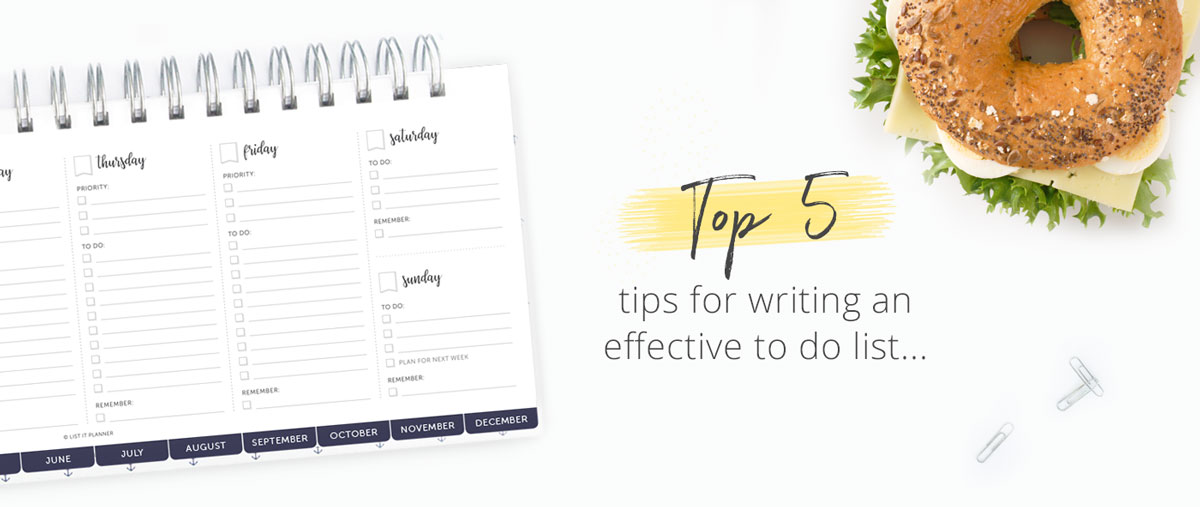 How to Write an Effective To Do List