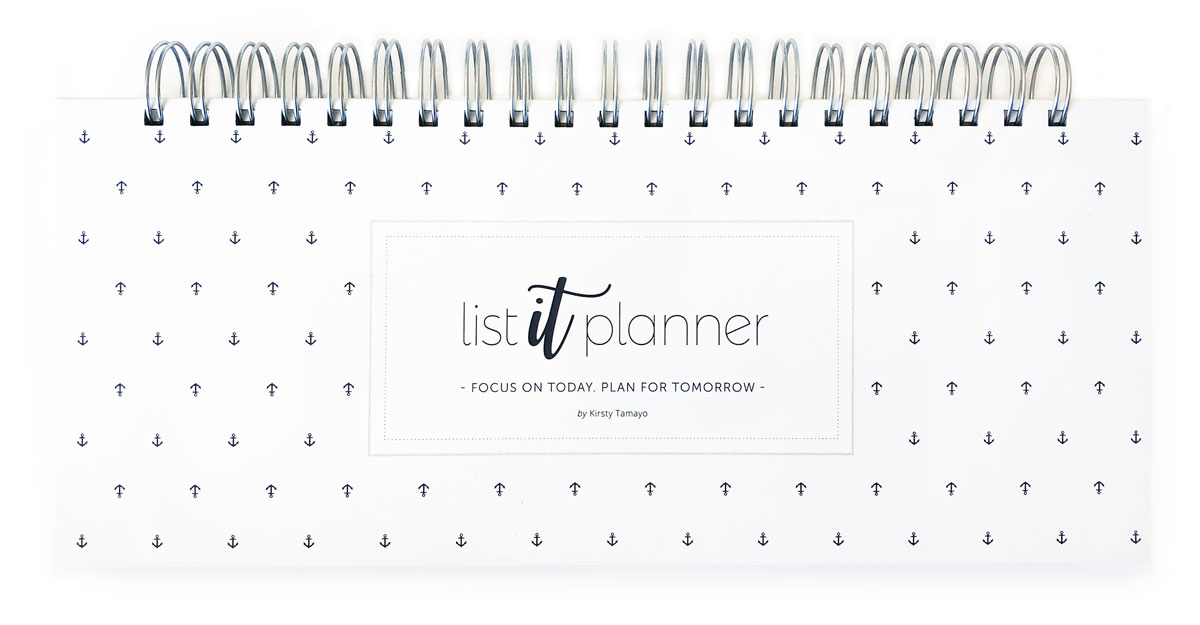 List It Planner - White Cover